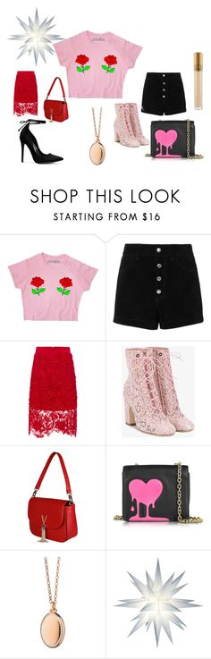 Be my lucky star by anelia-georgieva on Polyvore featuring rag & bone/JEAN, Vjera Vilicnik, Laurence Dacade, Love Moschino, RED Valentino, Monica Rich Kosann and MAC Cosmetics