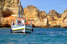 Chilling near Lagos in Southern Portugal, with a visit to the unique Piedade caves, swimming and lunch aboard.