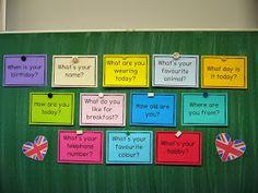 """Karten fürs """"Warm up"""" im Englischunterricht   Zu Beginn der Englischstunde führe ich gerne ein """"Warm up"""" durch. Dazu ziehen die Kinder aus ..."""