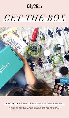 Every FabFitFun box is stuffed with over 6 FULL-SIZE, premium beauty, fashion, and wellness products and is delivered to your door once a season. Find out why we're the #1 full-size box and for the next 3 days only, we'll give you 50% off of your first box with code FLIRT.