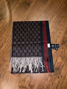 58d3a18d092ad Gucci Beige and Brown GG Fringe Long Scarf  fashion  clothing  shoes   accessories