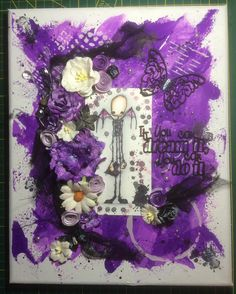 Artwork created by Nadine Muenzner using rubber stamps designed by Daniel Torrente for Stampotique Originals