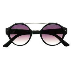 #metal #top #bar #retro #fashion #mens #womens #matte #round #sunglasses #black