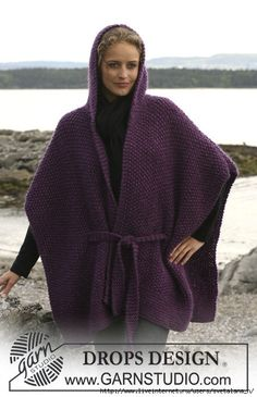 Hand Knit CHUNKY Long 100% Merino Wool Hooded Poncho ,  Alpaca SWEATER ,  Pure Cotton Cardigan , Cape , Wrap ,Vest , Jacket , Tunic ,Coat by PUREWHITEDECO on Etsy https://www.etsy.com/listing/244650659/hand-knit-chunky-long-100-merino-wool