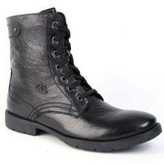 "VALENTINO > ""Rockstar98"" Casual Leather Boot, Black"