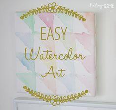 Easy Watercolor Art Using Painters Tape