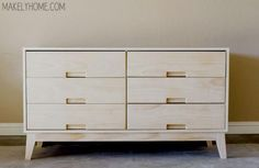 DIY Steppe 6 Drawer Dresser - full material list, cutting list, and detailed plans from The Design Confidential & Makely Home