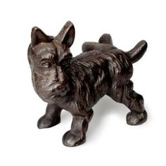 "Abbott Cast Iron Scottie Dog Door Stopper by Abbott. $39.34. Black finish. Cast iron Scottie dog door stopper. Dimension 7""L. A Scottie dog door stopper is a great way to keep your door open on a breezy day. Made of cast iron, this Scotty dog can withstand any weather.. Save 21%!"