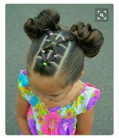 girl girl hairstyles Peinados fciles y bonitos par Girls Hairdos, Baby Girl Hairstyles, Black Girls Hairstyles, Braided Hairstyles, Girls Braids, Teenage Hairstyles, Cute Toddler Hairstyles, Children Hairstyles, Short Hairstyles