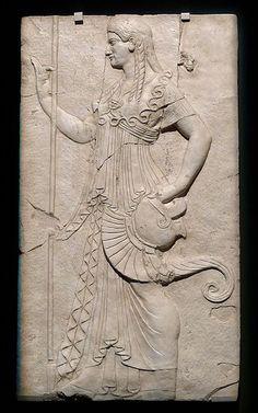 Athena bas relief