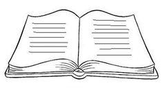 Modelos e moldes de livro em branco livro aberto para escrever mensagem de natal ou colorir - ESPAÇO EDUCAR