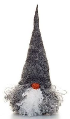 Handmade artisan gnomes made in Sweden - creepy or cute? Wooden base and Gotland sheep's hair. Swedish Christmas, Christmas Gnome, Scandinavian Christmas, Christmas Projects, Holiday Crafts, Christmas Ornaments, Scandinavian Gnomes, Needle Felted, All Things Christmas