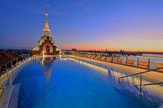 Rooftop Pool in Venedig - Hilton Molino Stucky