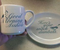 Offensive Mug And Tray Set
