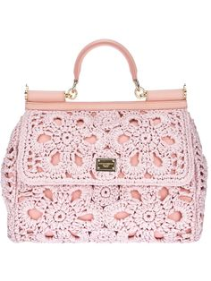 Of course it's Dolce & Gabbana, it's freaking awesome. *** Dolce & Gabbana 'Miss Sicily' Tote. Beautiful Handbags, Beautiful Bags, Fashion Bags, Fashion Accessories, Mode Rose, Diy Sac, Cute Bags, Clutch Purse, Purses And Handbags