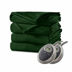 Shop for Sunbeam Velvet Plush Electric Heated Blanket King Size Ivy Green. Queen Size Blanket, Heated Blanket, Hunting Cabin, Blanket Sizes, Plush, Velvet, Green, Color, Electric