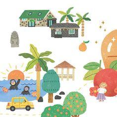2017 청주야행 동네지도 - 일러스트레이션, 일러스트레이션, 디지털 아트, 일러스트레이션 Book Projects, Happy Colors, Pencil Illustration, Illustrations And Posters, Graphic, Doodle Art, Layout, Art For Kids, Doodles