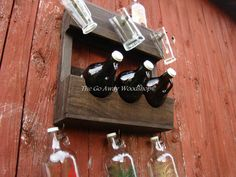 Growler rack recycled pallet by TheGoAwayWoodshop on Etsy