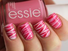 Spektor's Nails: Valentine's Day Water Marble