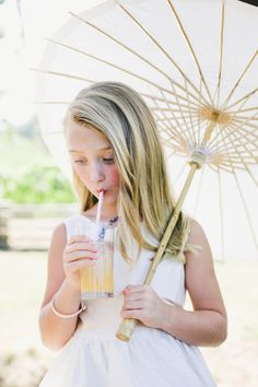 Flower girl drinking her juice: http://www.stylemepretty.com/california-weddings/healdsburg/2015/01/26/rustic-chic-winery-wedding/ | Photography: Onelove - http://www.onelove-photo.com/