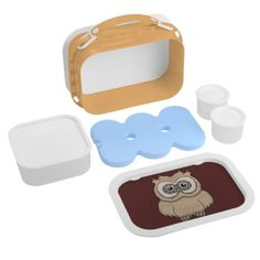 Cartoon Brown Owl Lunch Box