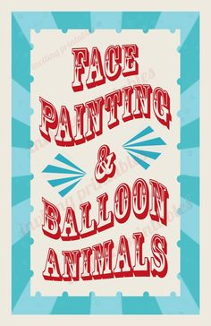 Circus Carnival Birthday Party Signs -Pay it forward PIF. %s%.20, via Etsy.