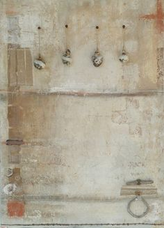 minor-arcana:  dailyartjournal:  Brenda Holzke  Random Order~mixed media,found objects and ceramic on board by Brenda Holzke