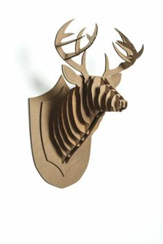 1000 images about trophy head mount 3d puzzles on pinterest taxidermy deer heads and rhinos - Cardboard deer mount ...