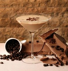 Chocolate Espresso Martini. My favorite dessert. This one from the Wynn is pretty fantastic (I substitute half and half for skim - just as good!)
