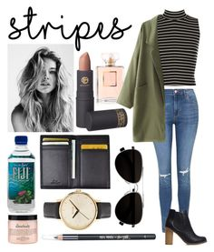 """""""Stripes Project #2"""" by fixedserenity ❤ liked on Polyvore featuring WearAll, Topshop, Royce Leather, Calvin Klein, Lipstick Queen, Nixon, philosophy and Barry M"""