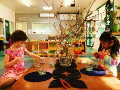 """The Beading Tree: """"set up on a low table along with a wonderful array of small and large beads, pliable wire and ribbons"""""""