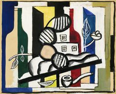 Fernand Leger Nature Morte aux Trois Fruits | 1927. Gouache, watercolor and brush and ink on paper. 30,2 x 36,2 cm. Private collection.