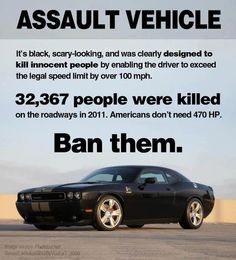 What's black and scary-looking?  An assault weapon? #guncontrol