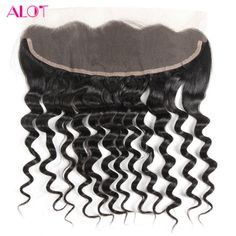 ALot Hair Free Part Brazilian Lace Frontal Closure Loose Wave 13*4 Non Remy Human Hair Frontal With Baby Hair 8-18Inch