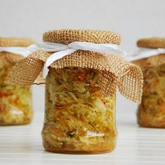Zucchini Salad, Salad In A Jar, Healthy Salad Recipes, Preserves, Pickles, The Cure, Homemade, Canning, Sweet