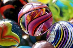 marbles - I LOVE marbles!!! I used to have a collection of a thousand of them when I was a kid!  Wish I still had it.