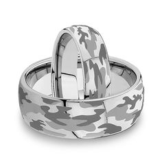 STRYKER MATCHING SET   A tribute to the men and women of our Armed Forces, the STRYKER is the perfect tungsten ring for the serviceman or servicewoman in your life. This domed tungsten carbide ring is laser engraved with the camo pattern familiar to the our Armed Forces, and just as durable. Coming in 6mm and 8mm widths, the STRYKER is the perfect tungsten carbide ring Military wedding band for those looking for a unique laser engraved pattern.