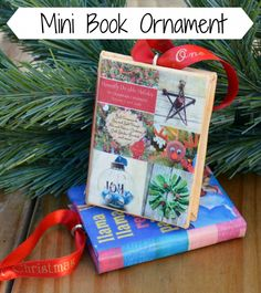 Mini Book Ornament