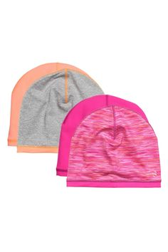 7fdb45b1cf4 2-pack reversible hats  Reversible jersey hats with reflective details.  Girls Winter Hats