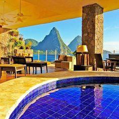 Mesmerize. St. Lucia. #travelnoire #stlucia #jademountain