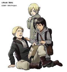 Reiner, Bertoldt, and Annie