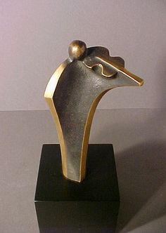 Abstract Mid Century Cubist Bronze Sculpture Violinist | eBay