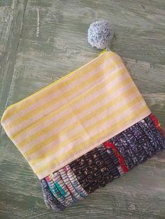 Handmade kourelou zipper pouch- PelysHappyThings