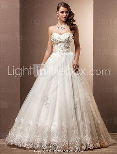 Lanting Bride® A-line / Princess Petite / Plus Sizes Wedding Dress - Classic & Timeless / Glamorous & Dramatic Vintage InspiredCourt 2017 - $349.99