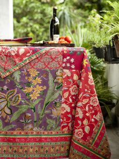 """this patchwork tablecloth is called """"Palermo"""", so I think that means I'm supposed to have it. Pretty sure."""