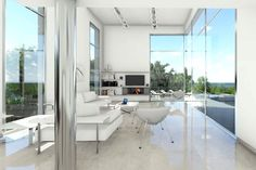 Bright and spacious living area with a view towards the Mediterranean #sea #view #villa #marbella #spain #costadelsol #luzury #property #sales