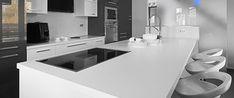 Apollo® Slab Tech Kitchen Worktop in Portsmouth, Southampton & Fareham — Solent Worktops Kitchen Designs Photo Gallery, Black And White Design, Cuisines Design, Work Tops, Modern Kitchen Design, Home Collections, Interior Inspiration, Countertops, New Homes