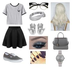 Gray / By: Kelsey C. by kelseyclark70 on Polyvore featuring polyvore, fashion, style, Chicnova Fashion, Vans, Fendi, Olivia Burton and clothing
