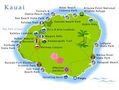 Printable Map of Kauai Hawaii | Kauai
