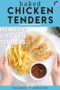Baked Chicken Tenders Healthy Chicken Tenders are the perfect guilt free, delicious dinner! Whole30, paleo, and gluten free- they'll be loved by everyone, including picky eaters! These clean eating chicken tenders are baked in the oven until crispy and are so simple make. Plus low carb because they're made with almond flour! You have to try them! #paleo #whole30 #healthy #chickentenders #glutenfree<br> Healthy Chicken Tenders are the perfect guilt free, delicious dinner! Whole30, paleo, and… Baked Chicken Tenders Healthy, Healthy Grilled Chicken Recipes, Chicken Tender Recipes, Vegetarian Recipes, Healthy Recipes, Whole30 Recipes, Easy Whole 30 Recipes, Paleo Whole 30, Clean Eating Chicken
